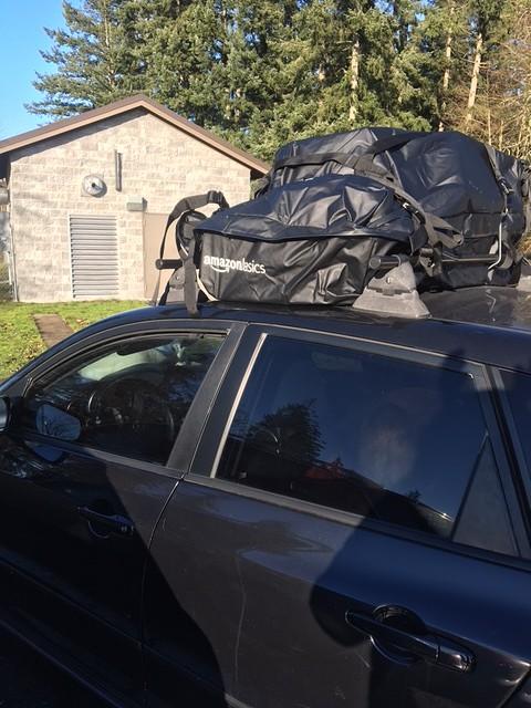 Roof rack from Amazon basics