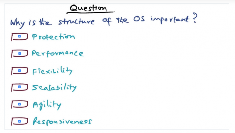 Desirable qualities of an OS